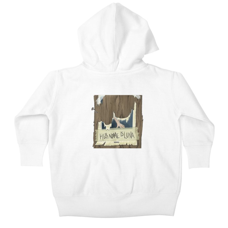 Her Name is Luna (Designed by Unapologetic Artist) Kids Baby Zip-Up Hoody by Augie's Attic