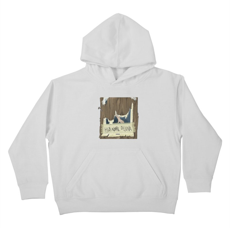 Her Name is Luna (Designed by Unapologetic Artist) Kids Pullover Hoody by Augie's Attic