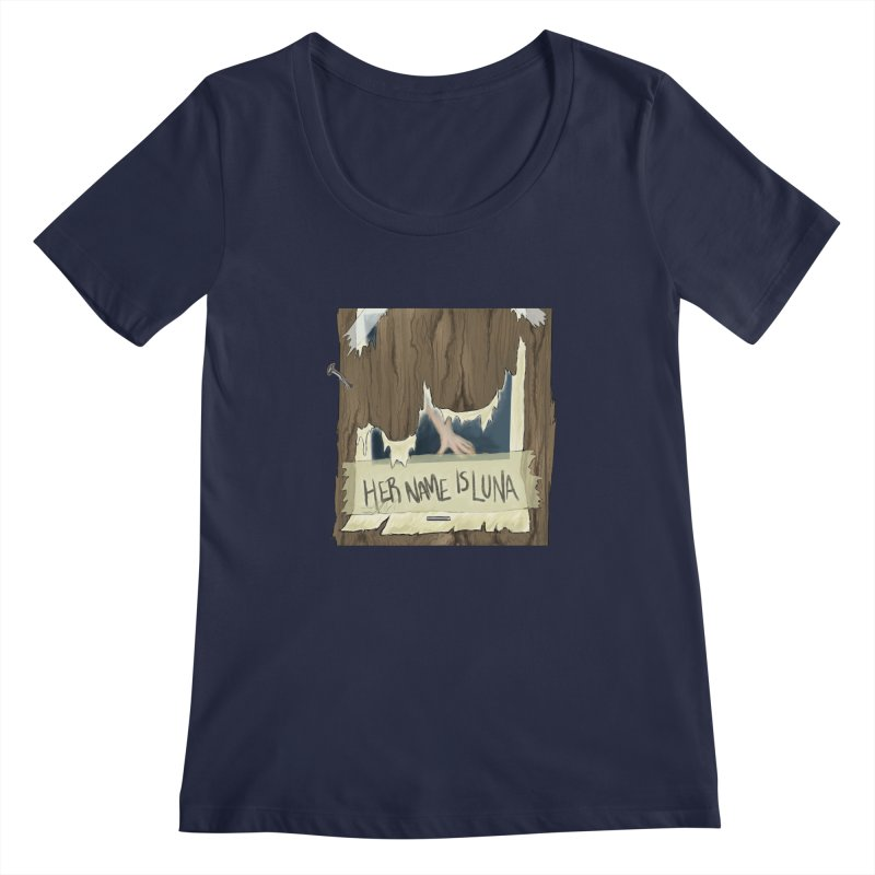 Her Name is Luna (Designed by Unapologetic Artist) Women's Regular Scoop Neck by Augie's Attic