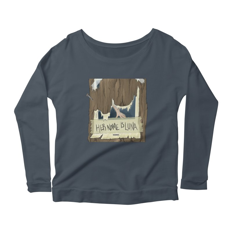 Her Name is Luna (Designed by Unapologetic Artist) Women's Scoop Neck Longsleeve T-Shirt by Augie's Attic