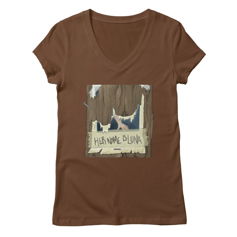 Her Name is Luna (Designed by Unapologetic Artist) Women's Regular V-Neck by Augie's Attic