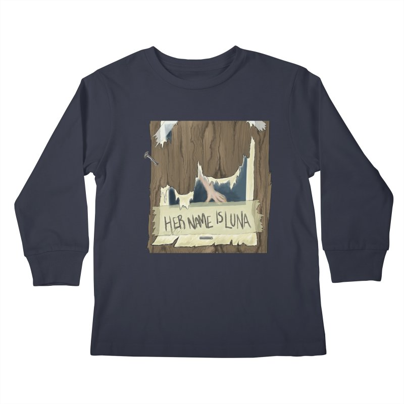 Her Name is Luna (Designed by Unapologetic Artist) Kids Longsleeve T-Shirt by Augie's Attic