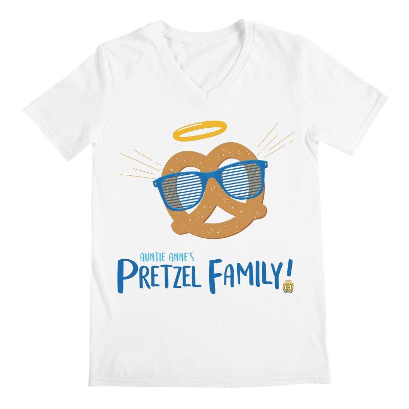 Pretzel Family Men's Regular V-Neck by AuntieAnne's Artist Shop