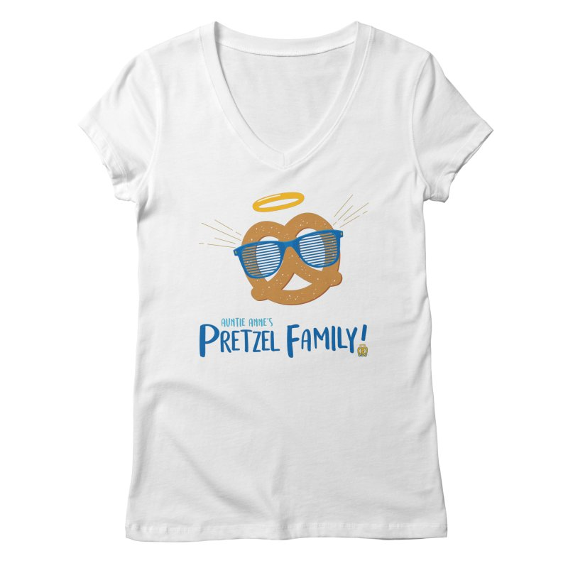 Pretzel Family Women's Regular V-Neck by AuntieAnne's Artist Shop
