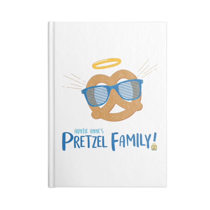 Pretzel Family Accessories Lined Journal Notebook by AuntieAnne's Artist Shop