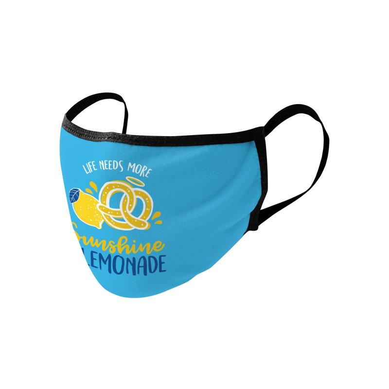 Life Needs More Sunshine & Lemonade Accessories Face Mask by AuntieAnne's Artist Shop