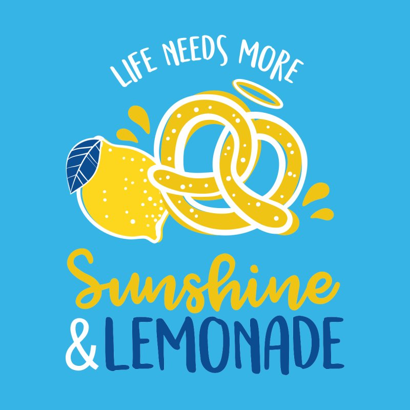 Life Needs More Sunshine & Lemonade Men's T-Shirt by AuntieAnne's Artist Shop