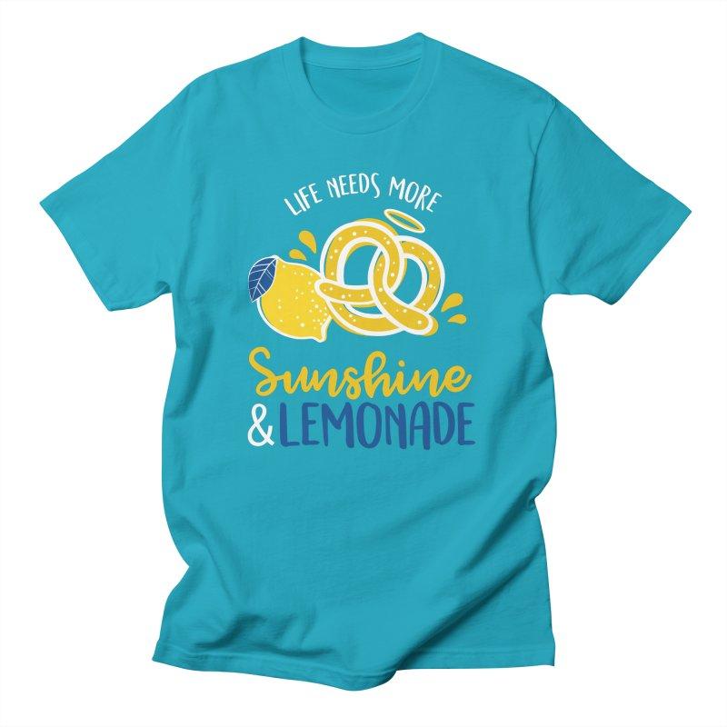 Life Needs More Sunshine & Lemonade Men's T-Shirt by AuntieAnne's Artist Shop