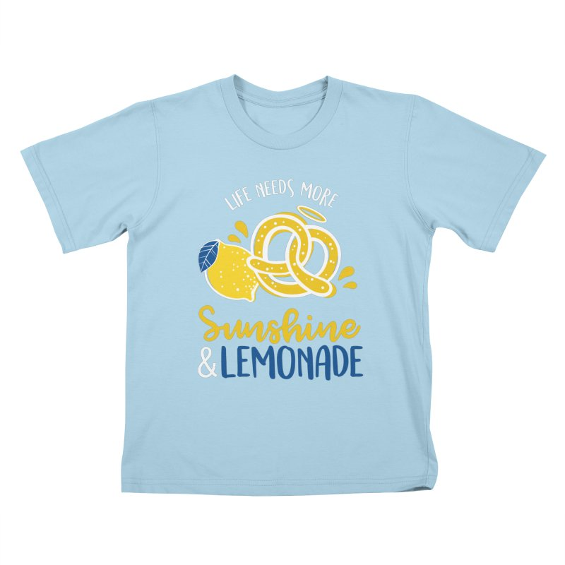 Life Needs More Sunshine & Lemonade Kids T-Shirt by AuntieAnne's Artist Shop