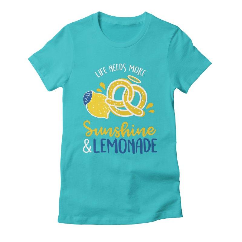 Life Needs More Sunshine & Lemonade Women's T-Shirt by AuntieAnne's Artist Shop