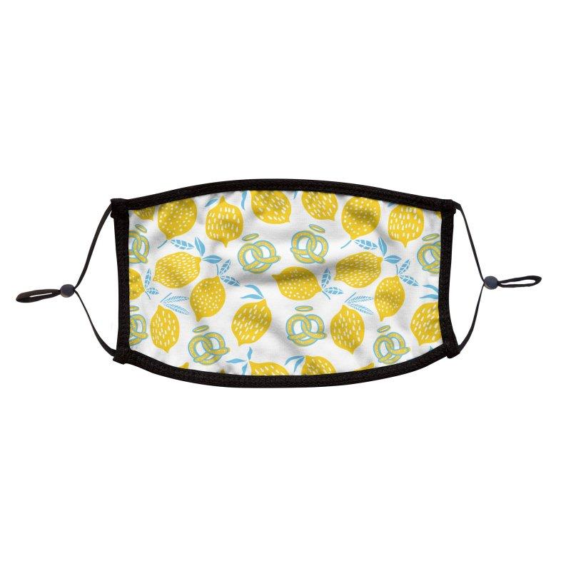 Modern Pretzels & Lemons Accessories Face Mask by AuntieAnne's Artist Shop