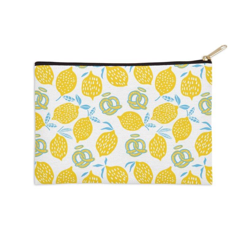 Modern Pretzels & Lemons Accessories Zip Pouch by AuntieAnne's Artist Shop