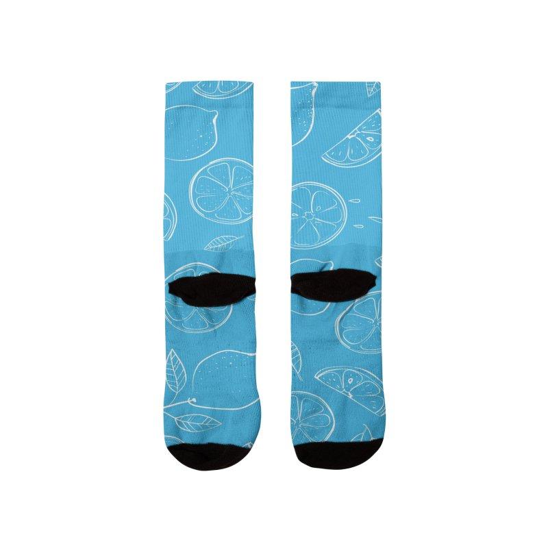 Lemon Pattern Men's Socks by AuntieAnne's Artist Shop