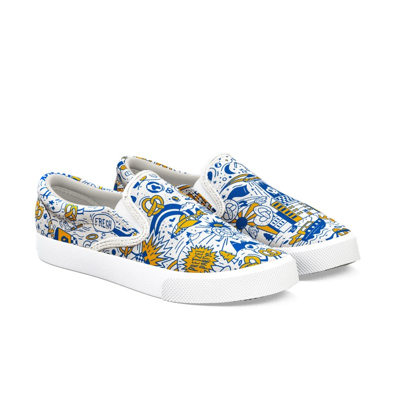 A Twisted Day Men's Slip-On Shoes by AuntieAnne's Artist Shop