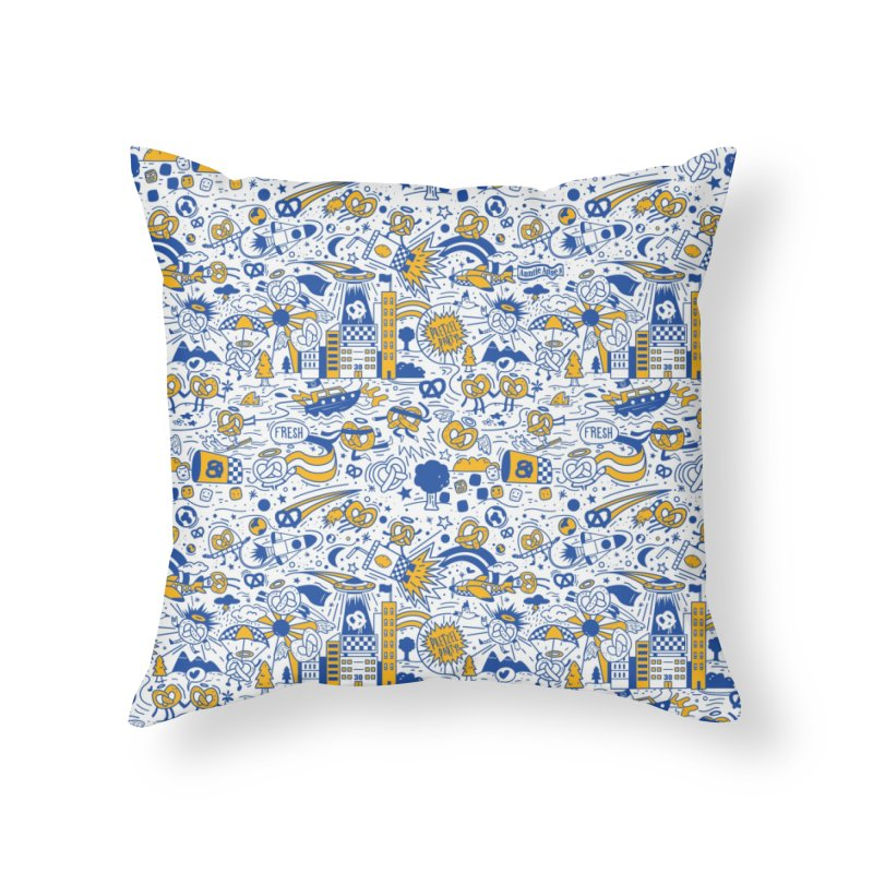 A Twisted Day Home Throw Pillow by AuntieAnne's Artist Shop