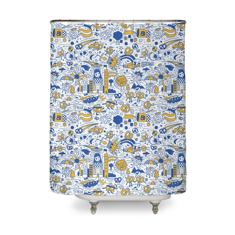 A Twisted Day Home Shower Curtain by AuntieAnne's Artist Shop