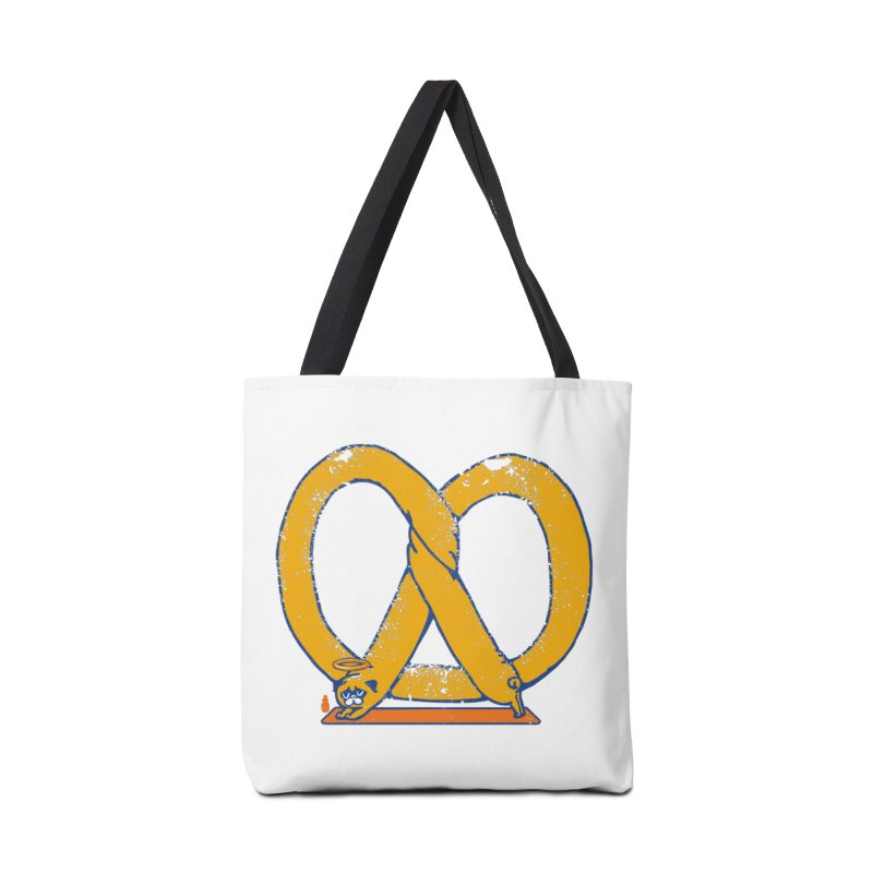 Pretzel Pug Yoga Accessories Tote Bag Bag by AuntieAnne's Artist Shop