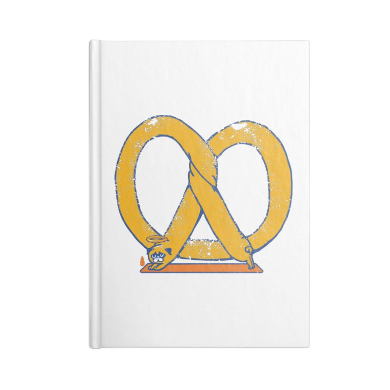 Pretzel Pug Yoga Accessories Notebook by AuntieAnne's Artist Shop