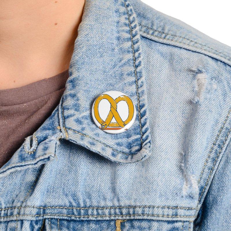 Pretzel Pug Yoga Accessories Button by AuntieAnne's Artist Shop