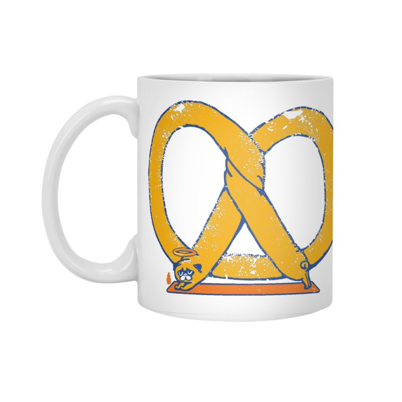 Pretzel Pug Yoga Accessories Mug by AuntieAnne's Artist Shop
