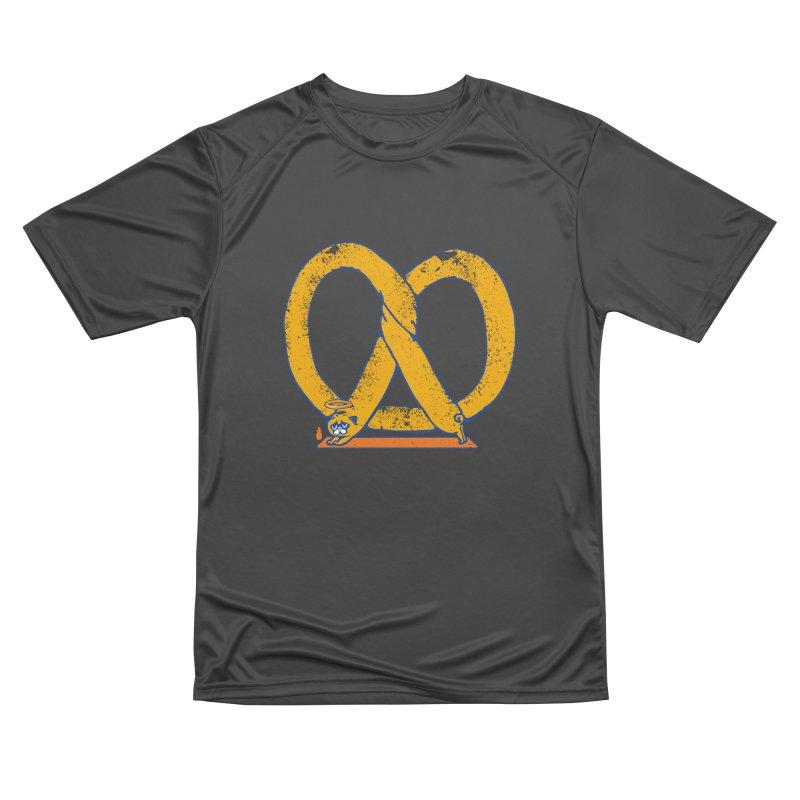 Pretzel Pug Yoga Women's Performance Unisex T-Shirt by AuntieAnne's Artist Shop