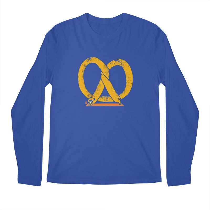 Pretzel Pug Yoga Men's Regular Longsleeve T-Shirt by AuntieAnne's Artist Shop
