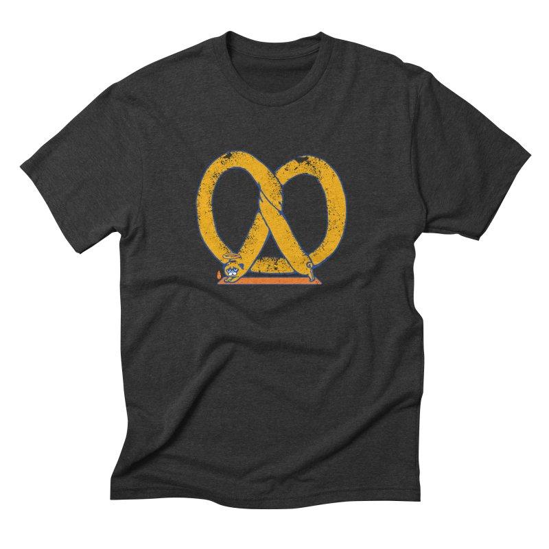 Pretzel Pug Yoga Men's Triblend T-Shirt by AuntieAnne's Artist Shop