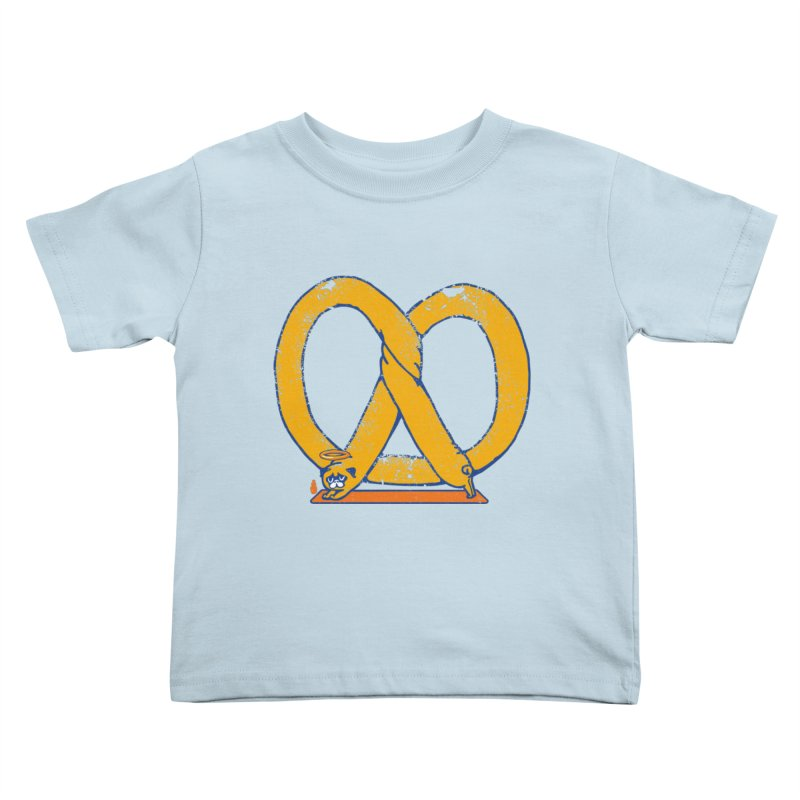 Pretzel Pug Yoga Kids Toddler T-Shirt by AuntieAnne's Artist Shop