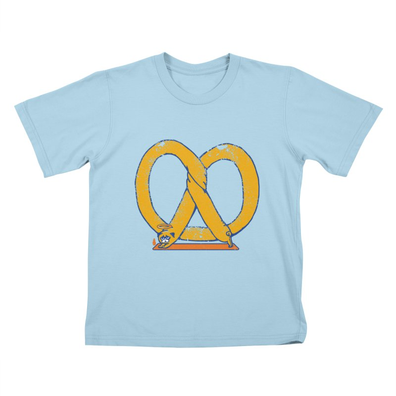 Pretzel Pug Yoga Kids T-Shirt by AuntieAnne's Artist Shop