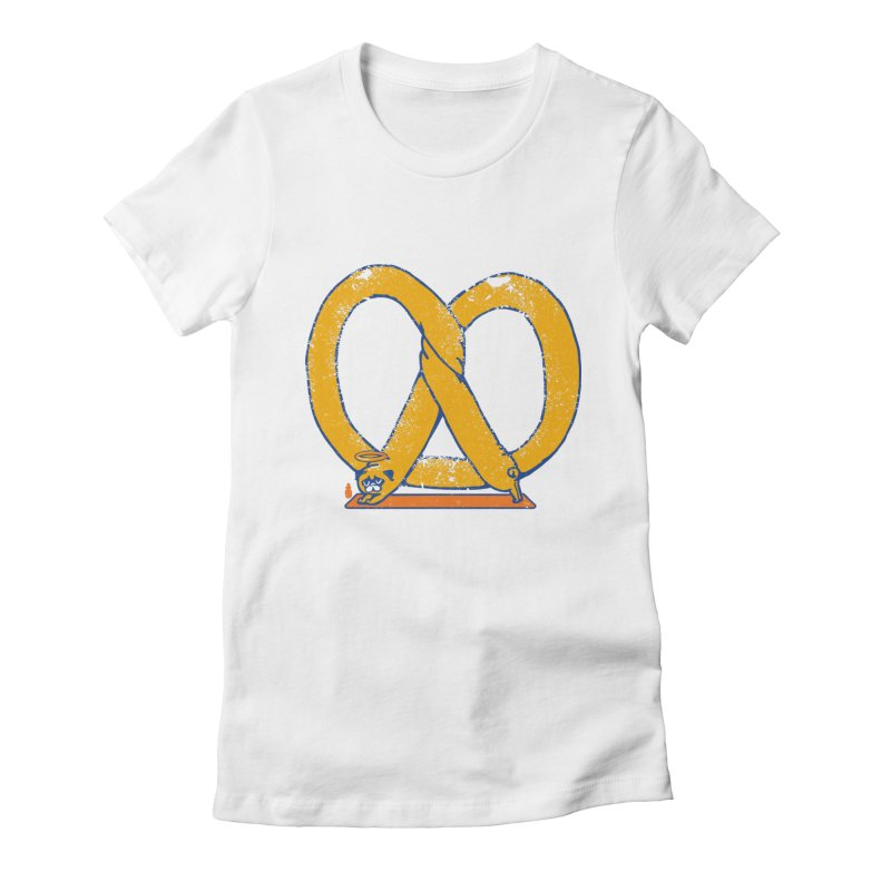 Pretzel Pug Yoga Women's T-Shirt by AuntieAnne's Artist Shop