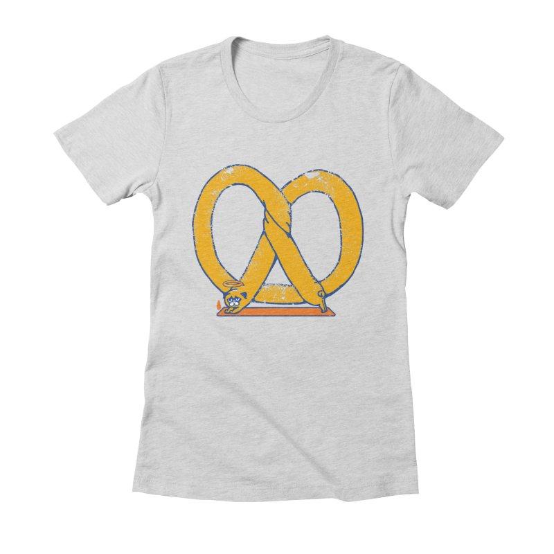 Pretzel Pug Yoga Women's T-Shirt by AuntieAnne's Artist Shop