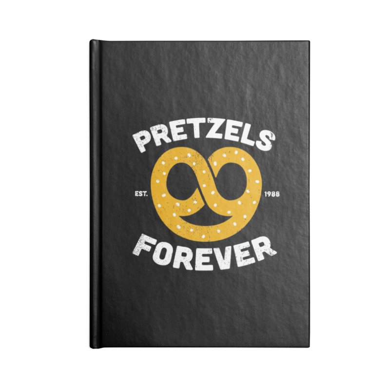 Pretzels Forever Accessories Blank Journal Notebook by AuntieAnne's Artist Shop