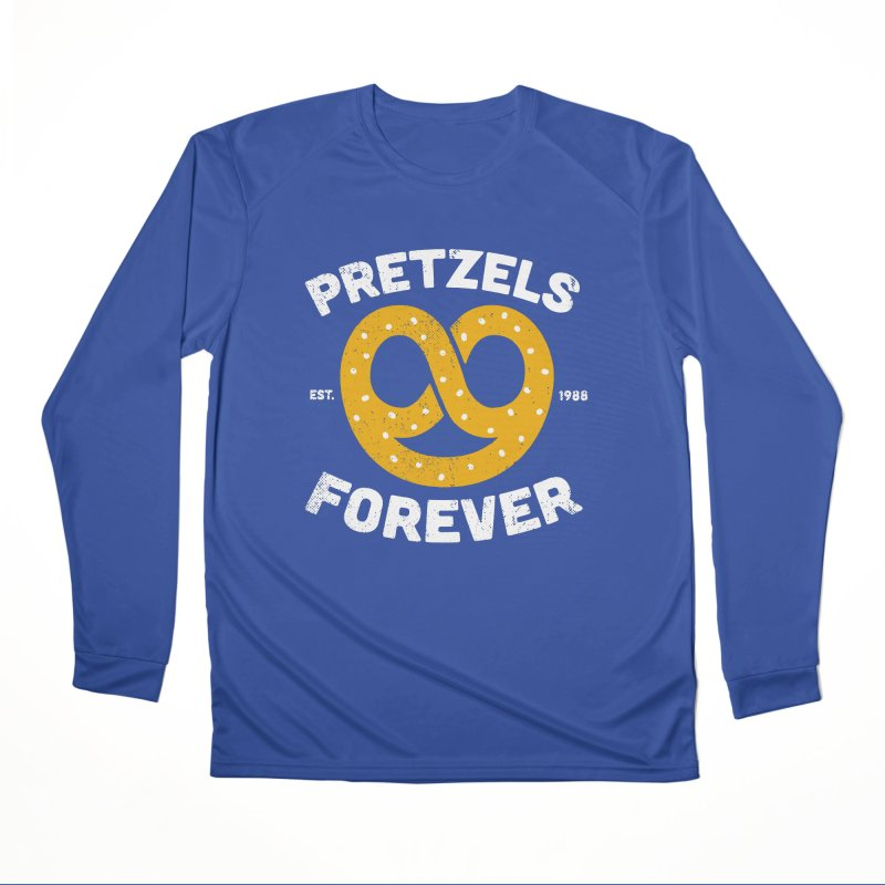 Pretzels Forever Men's Performance Longsleeve T-Shirt by AuntieAnne's Artist Shop
