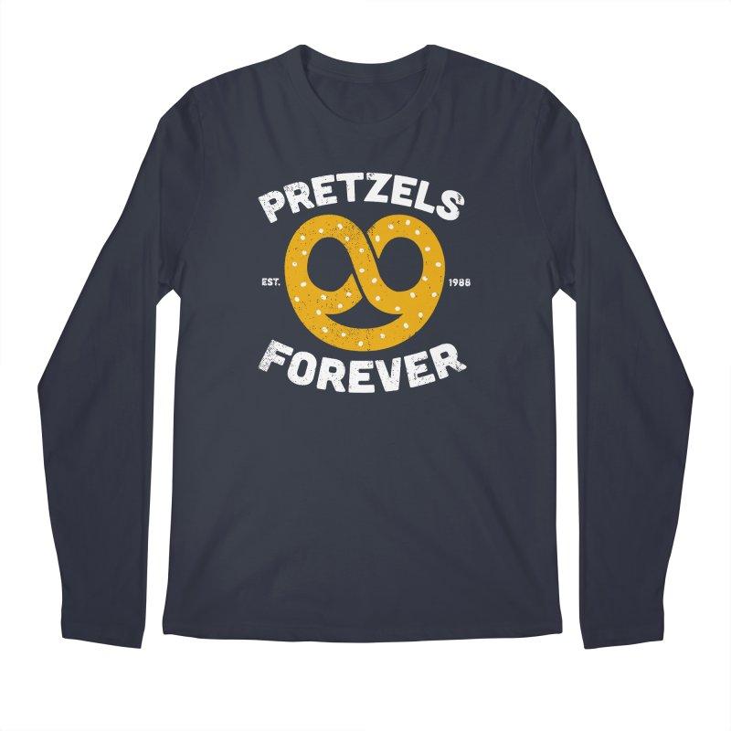 Pretzels Forever Men's Regular Longsleeve T-Shirt by AuntieAnne's Artist Shop