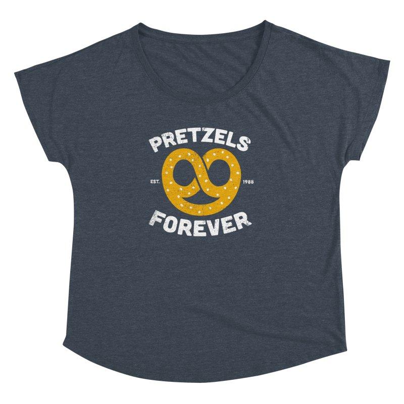 Pretzels Forever Women's Dolman Scoop Neck by AuntieAnne's Artist Shop