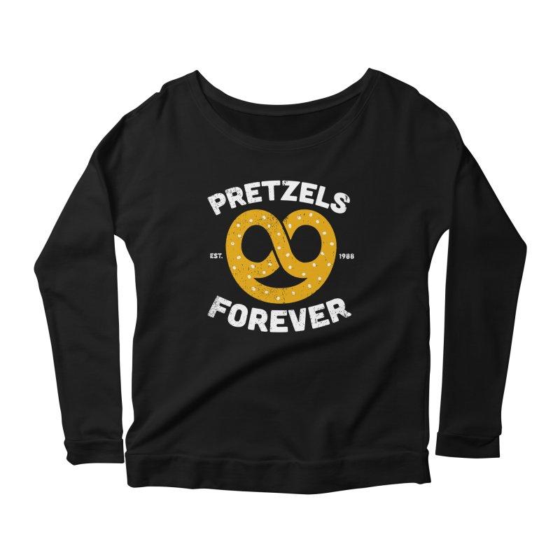 Pretzels Forever Women's Scoop Neck Longsleeve T-Shirt by AuntieAnne's Artist Shop