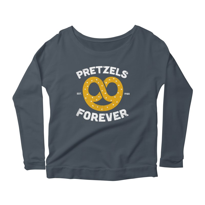 Pretzels Forever Women's Scoop Neck Longsleeve T-Shirt by AuntieAnne's Artist Shop
