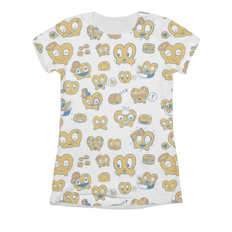 A Pretzel For Everyone! Women's All-Over Print Triblend T-Shirt by AuntieAnnes's Artist Shop