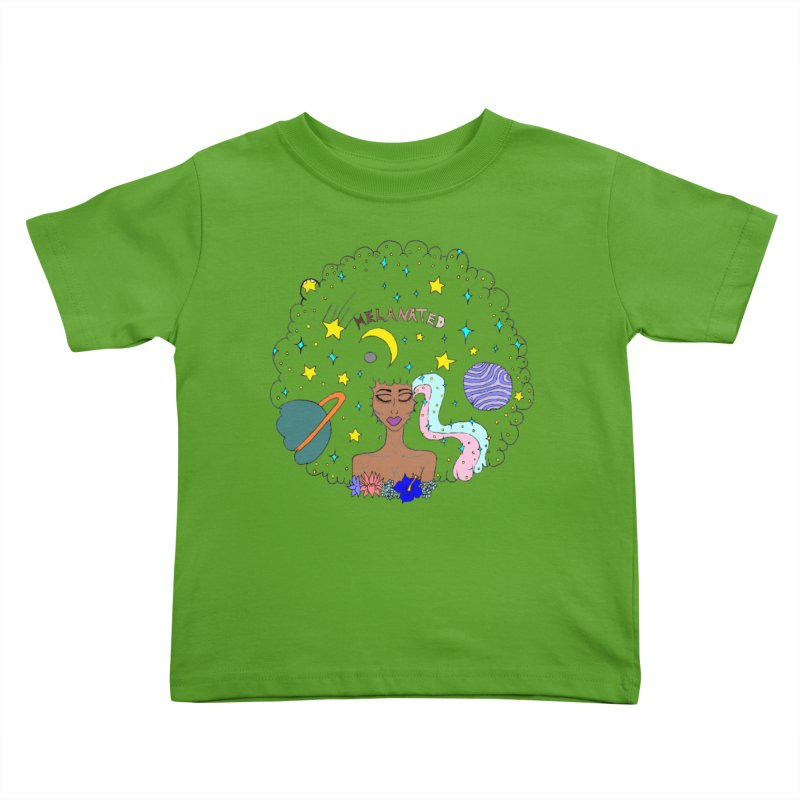 MELANATED  Kids Toddler T-Shirt by Melanin Auntie