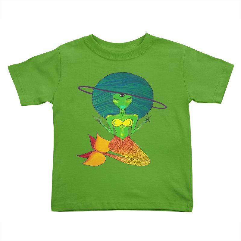 Auqua Queen Kids Toddler T-Shirt by Melanin Auntie