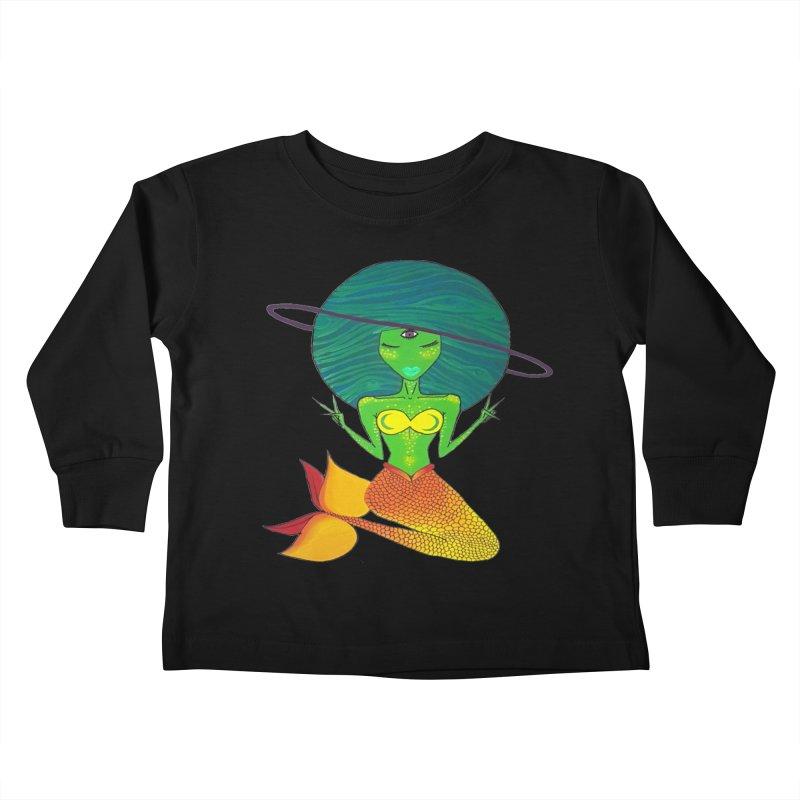 Auqua Queen Kids Toddler Longsleeve T-Shirt by Melanin Auntie