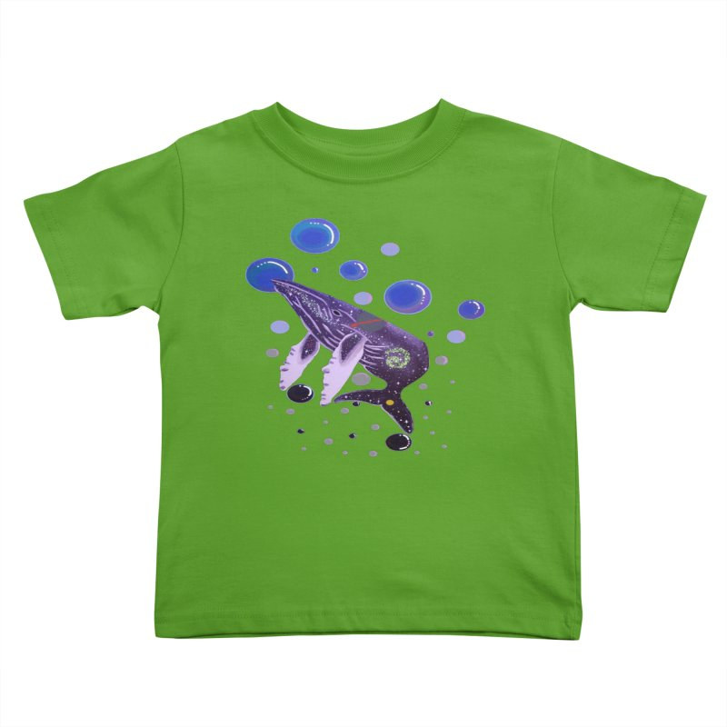 Whale hello! Kids Toddler T-Shirt by Melanin Auntie