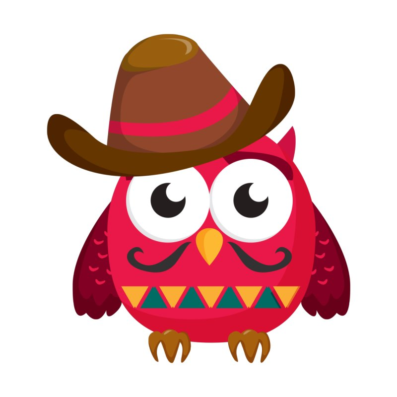 Red Cowboy Owl with Hat and Mustache T Shirt by Aura Designs | Funny T shirt, Sweatshirt, Phone ca