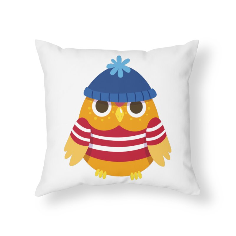 Owl Home Throw Pillow by Aura Designs | Funny T shirt, Sweatshirt, Phone ca