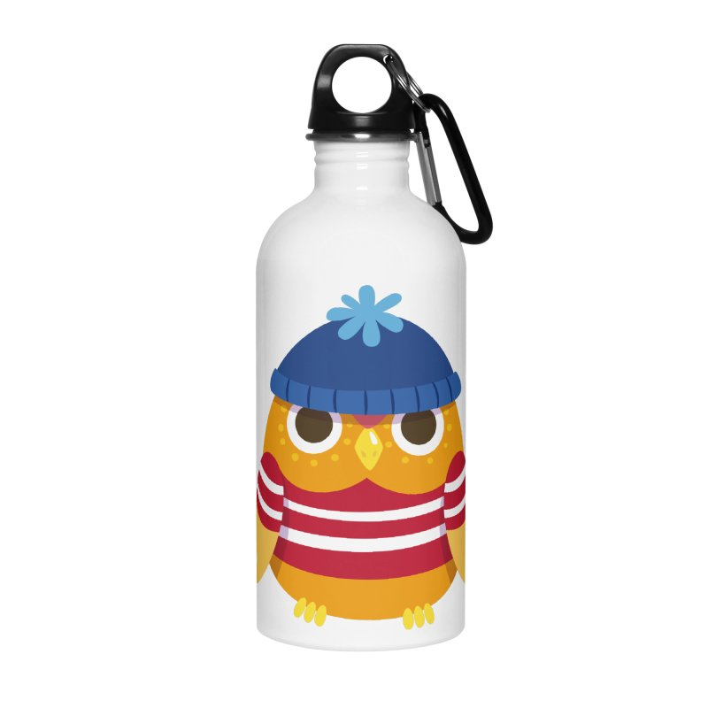 Owl Accessories Water Bottle by Aura Designs | Funny T shirt, Sweatshirt, Phone ca