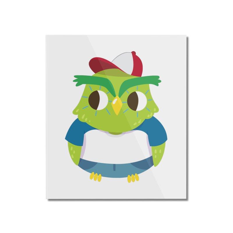 Owl Home Mounted Acrylic Print by Aura Designs | Funny T shirt, Sweatshirt, Phone ca