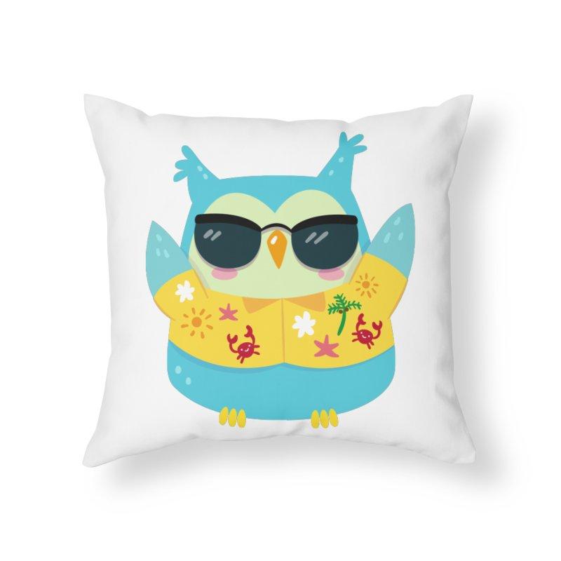 Owl Home Throw Pillow by Aura Designs | Funny T shirt, Sweatshirt, Phone ca