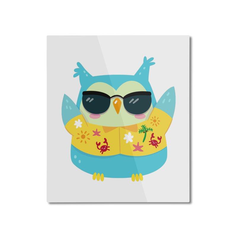 Owl Home Mounted Aluminum Print by Aura Designs | Funny T shirt, Sweatshirt, Phone ca