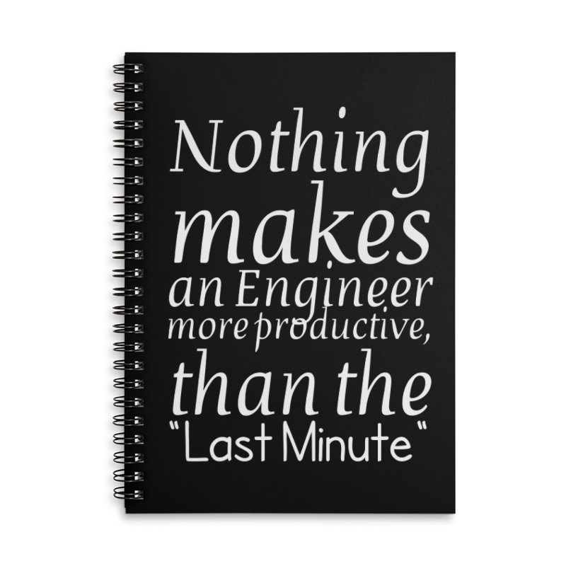 """Nothing makes an Engineer more productive, than the """"Last Minute"""" Accessories Notebook by Aura Designs 