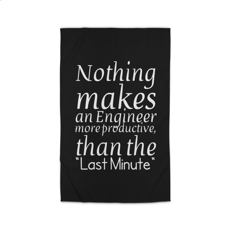 "Nothing makes an Engineer more productive, than the ""Last Minute"" Home Rug by Aura Designs 